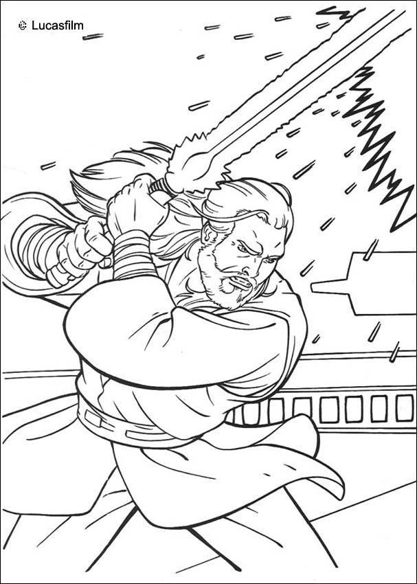 Jediritter qui gon jinn mit einem laserschwert