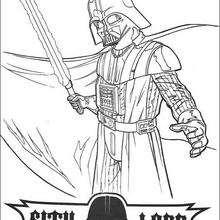 Darth Vader mit Laserschwert