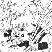 Micky Maus und der Panda