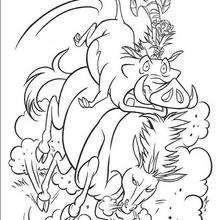 Pumbaa und Timon reiten ein Wildpferd