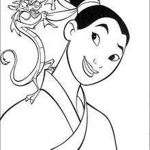 Fa Mulan und ihr Beschützer Mushu der Drache