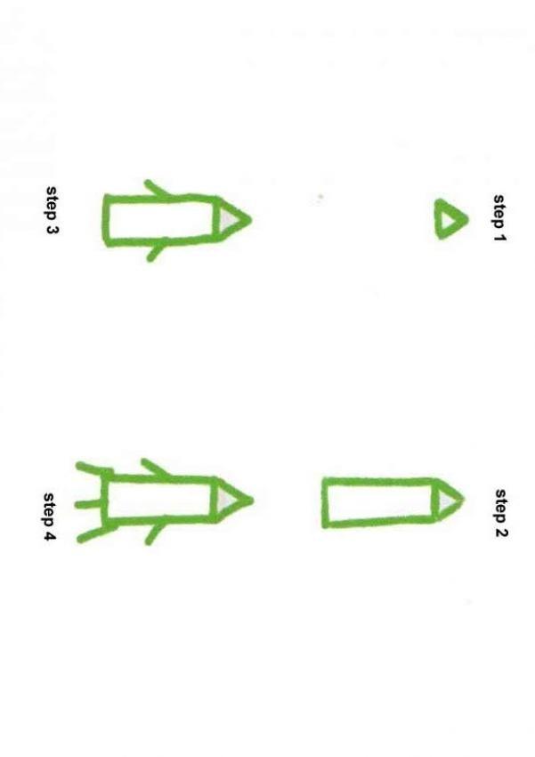 Wie man eine Rakete malt