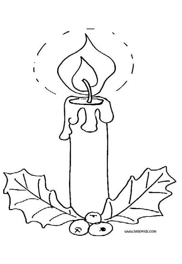 Kerzen Zu Weihnachten Zum Ausmalen Zum Ausmalen De Hellokids Com