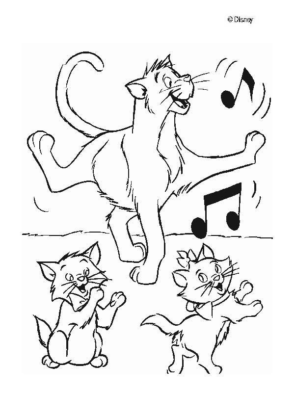 Die Aristocats Tanzen Zum Ausmalen De Hellokids Com