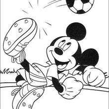 Micky Maus spielt Fussball