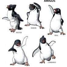 Pinguin Freunde tanzen