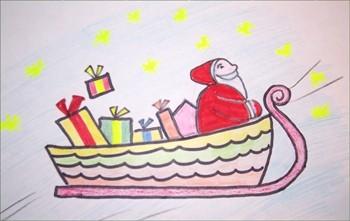 Wie man einen Weihnachtsschlitten malt
