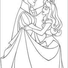 Prinzessin Aurora und Prinz Philip tanzen Walzer