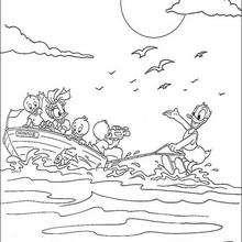 Donald Duck fährt Wasserski