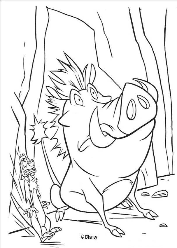Pumbaa und timon haben angst zum