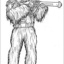 Wookiesoldat mit einer Waffe