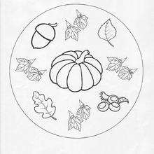 Herbst Mandala zum Ausmalen