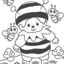 Monchhichi mit Bienen