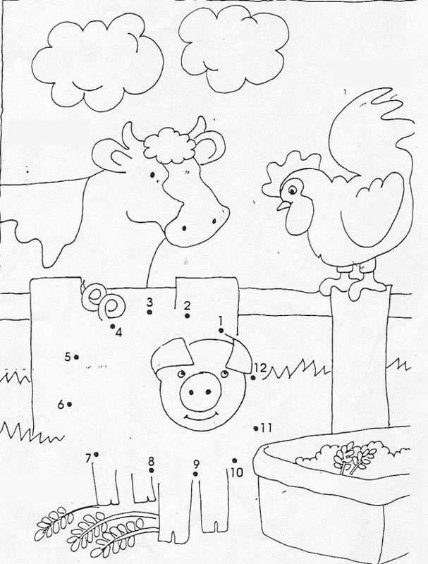 Kids Dot To Dot Printables Free Dump Truck Connect The Dots Coloring Pages For Kids Img besides Studying Animals Of The Jungle Crossword Puzzle Puzzle Game also Dot To Dot Goat further Rn Jm Source R additionally Tracing Activities Animal Pig. on farm animal dot to dots
