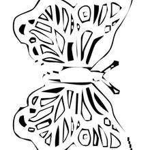 Schöner Schmetterling zum Ausmalen