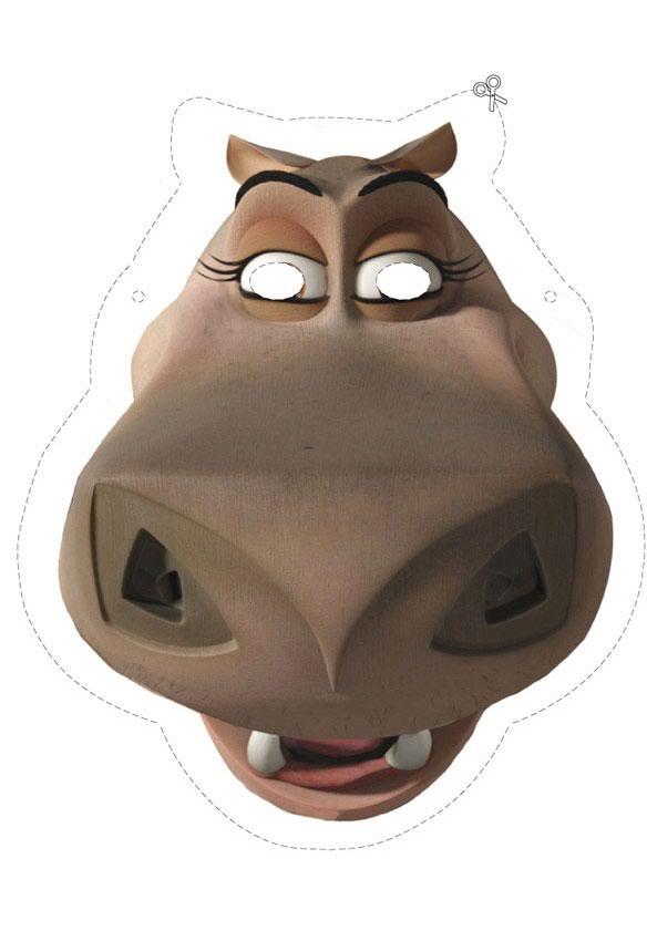 Madagascar 2: Gloria da Nilpferd Maske
