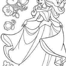Prinzessin Aurora tanzt
