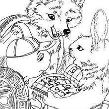 Franklin mit Fuchs und Kaninchen zum Ausmalen
