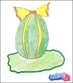 Lerne wie man ein Osterei malt