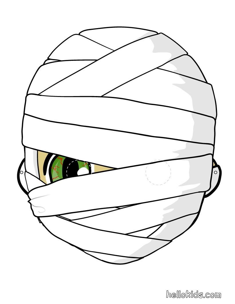 Mumienmaske für Halloween