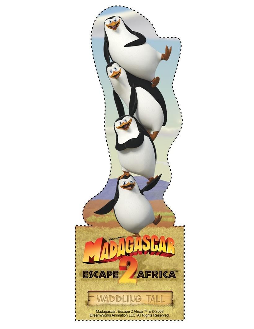 Die Pinguine aus Madagascar Lesezeichen