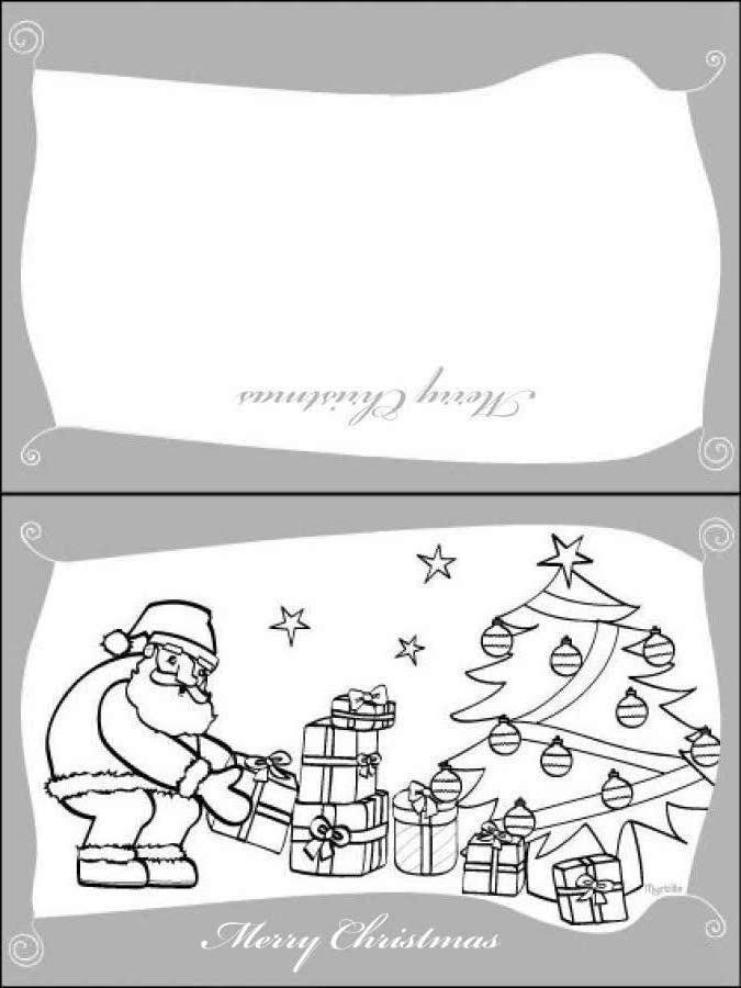 Weihnachtsmann mit Geschenken Grußkarte