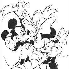 Micky Maus und Minnie Maus