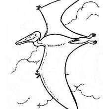 Fliegender prähistorischer Vogel zum Ausmalen