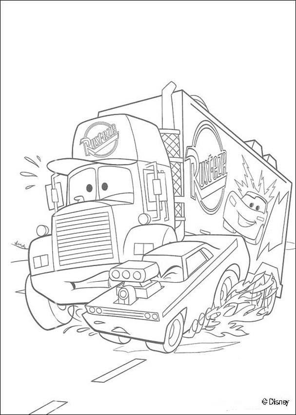 Cars: mack, lastwagen zum ausmalen - de.hellokids.com