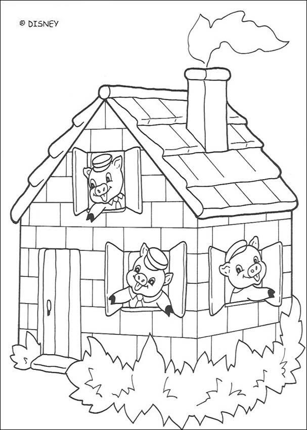 Die Drei Kleinen Schweinchen Zum Ausmalen Ausmalbilder