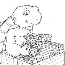 Franklin mit Weihnachtsgeschenken