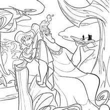 Zeus und hera zum ausmalen de hellokids