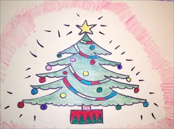 wie malt man wie man einen weihnachtsbaum malt. Black Bedroom Furniture Sets. Home Design Ideas