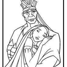 Native American Princess Coloring Page