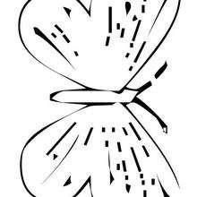 Fliegender Schmetterling zum Ausmalen