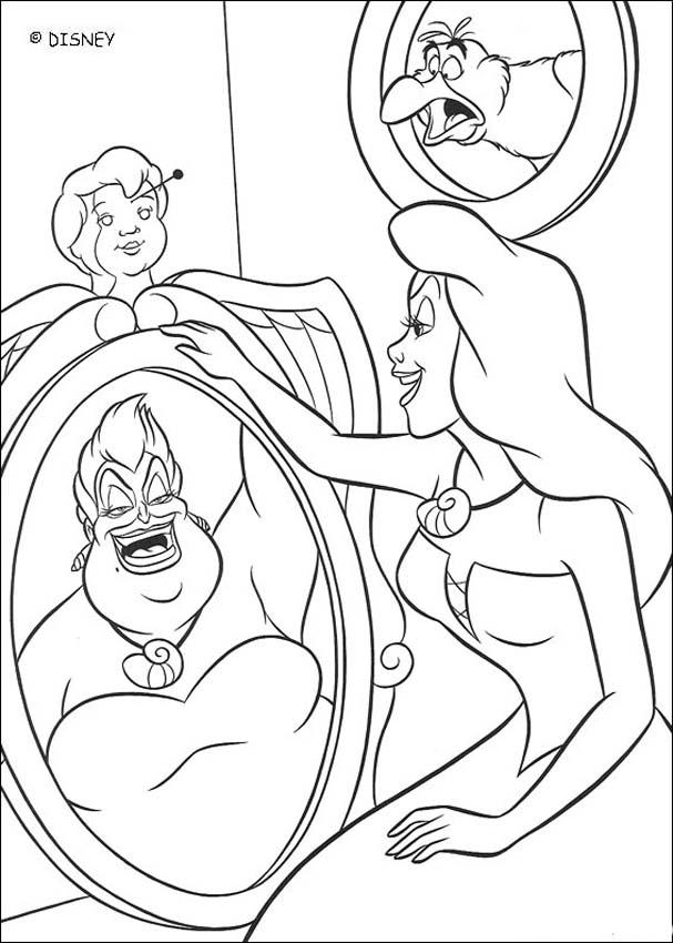 Disney The Little Mermaid 3 Coloring Pages Ursula und arie...