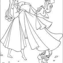 Prinzessin Aurora mit ihren Tierfreunden