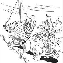 Donald Duck und das Boot