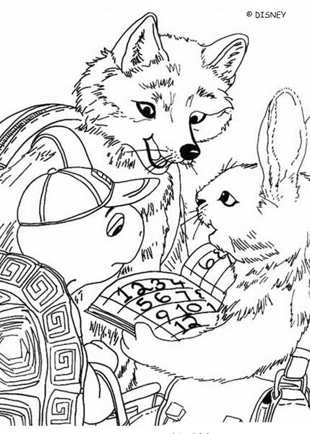 Ausmalbilder Kinder Fuchs: Franklin Mit Fuchs Und Kaninchen Zum Ausmalen Zum Ausmalen