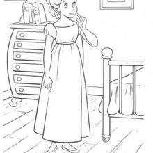 Wendy in ihrem Haus