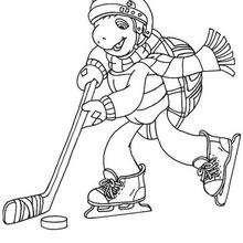 Franklin spielt Eishockey zum Ausmalen