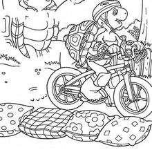 Harriet mit Fahrrad zum Ausmalen