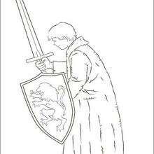 Peter Pevensie mit einem Schwert