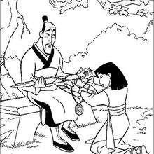 Mulan und ihr Vater Fa Zhou