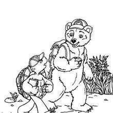 Franklin und Bär zum Ausmalen