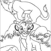 Mufasa mit seinem Sohn Simba