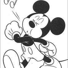 Micky Maus pfeift