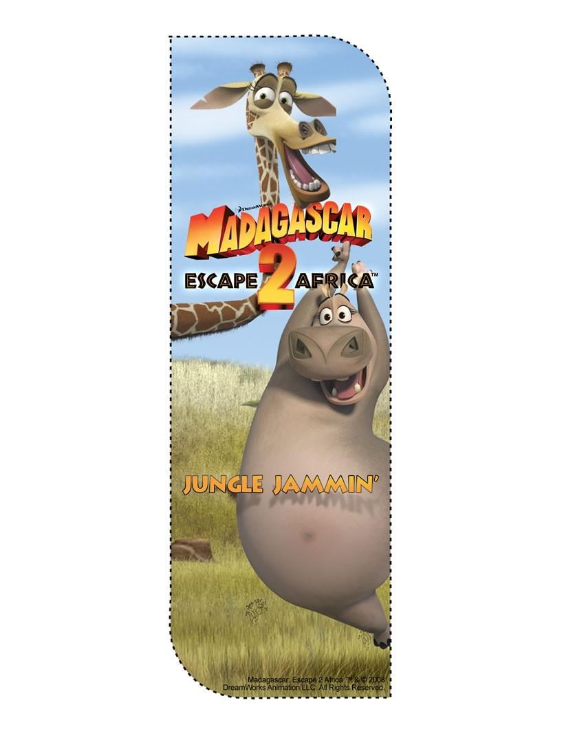 Gloria aus Madagascar 2 Lesezeichen