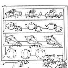 Franklin Mit Spielzeug Zum Ausmalen