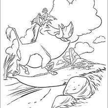 Pumbaa und Timon glücklich